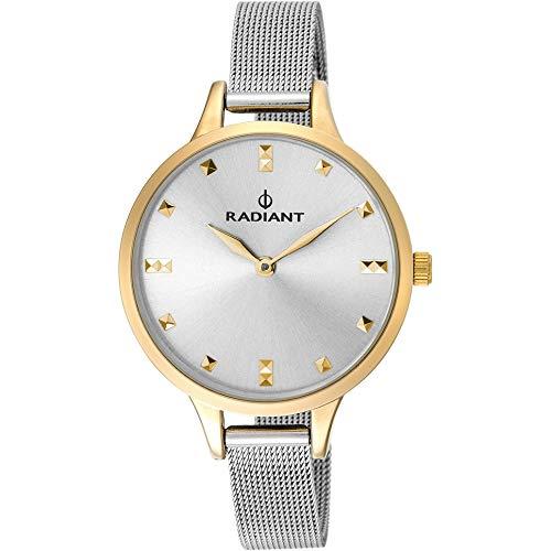 Reloj Radiant para Mujer con Correa Plateada y Pantalla en Blanco RA474602
