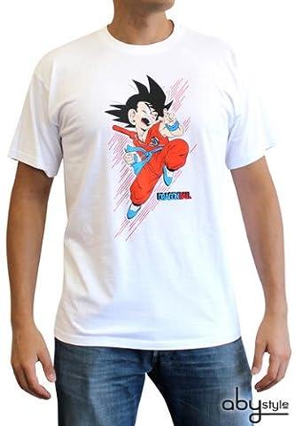 DragonBall T-Shirt Homme Basic Blanc Goku Petit