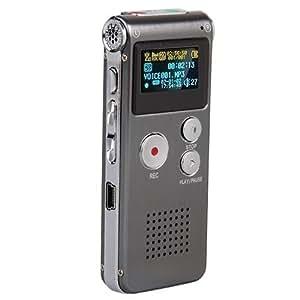 SUNLUXY Activation Vocale Oled Enregistreur Vocal Voice Numerique Dictaphone 8GB