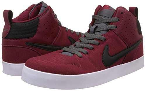 Nike Men's Liteforce III Mid Red, Dark Grey and White Sneakers -8 UK/India (42.5 EU)(9 US)