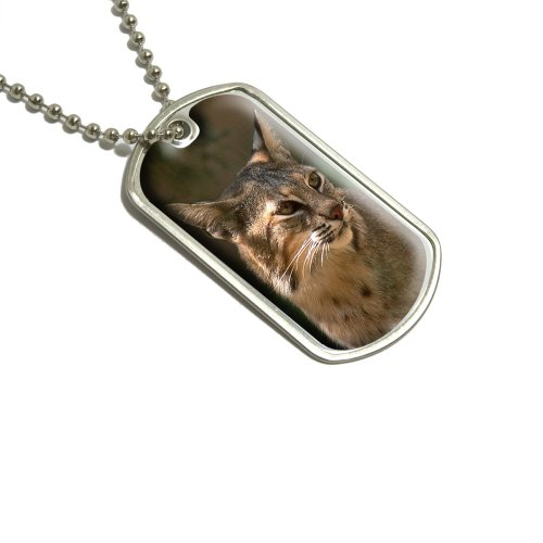 bobcat-cat-military-dog-tag-luggage-keychain
