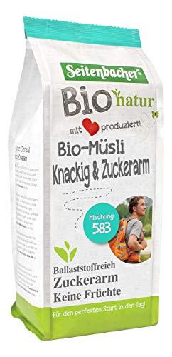Seitenbacher Bio Knackige und Zuckerarme Mischung, 2er Pack (2 x 500 g)