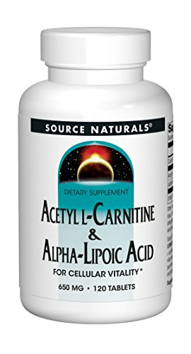 Source Naturals, Acetyl L-Carnitin und Alpha-Liponsäure, 650 mg, 120 Tabletten (Alpha-liponsäure-tabletten)