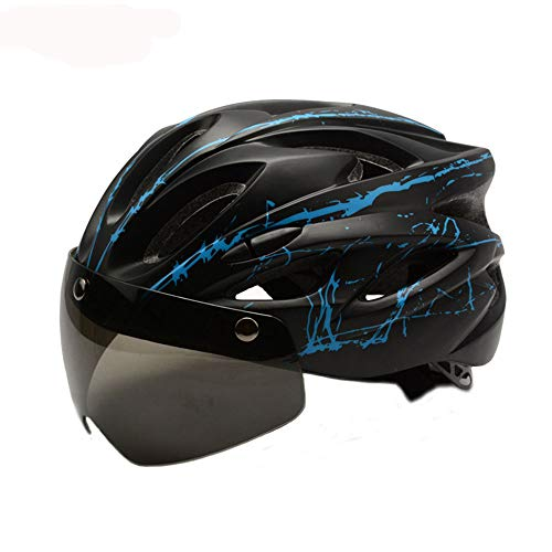 DYM258 Fahrradhelm Mountain Road Radfahren Sicherheitshut Magnetische Sonnenbrille Einteiliger Prozess Belüftung Atmungsaktiver Helm für Outdoor-Reitausrüstung,D