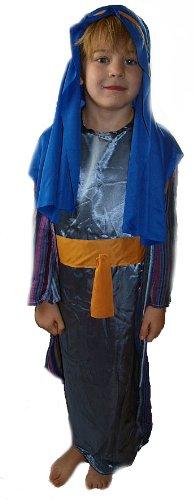 Blau Hirten Weihnachten Krippenspiel Dressing Up Kostüm–Medium Alter (Outfit Hirten)