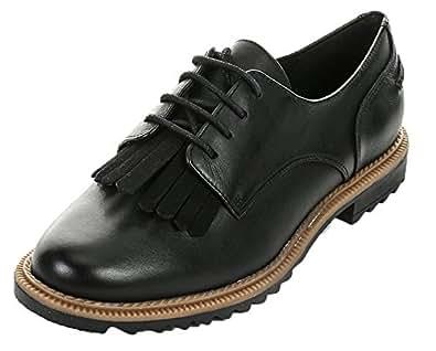 Clarks Griffin Mabel, Women's Derby Lace-Up, Black (Black Leather), 3.5 UK (36 EU)