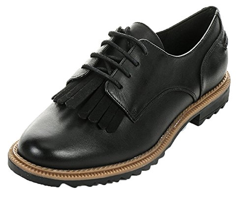 Clarks Griffin Mabel, Brogue Donna, Nero (Black Leather), 39 EU