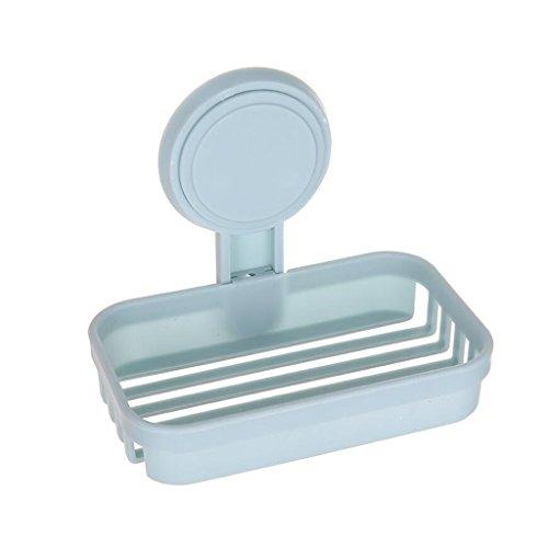 Xuan - Worth Having Plastique Bleu d'étagère de Savon de boîte de Savon de Mode Simple de Couche Bleue accrochant