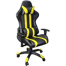 Terena® Hellracer Bürostuhl Chefsessel Drehstuhl 11 Farbvarianten (gelb)