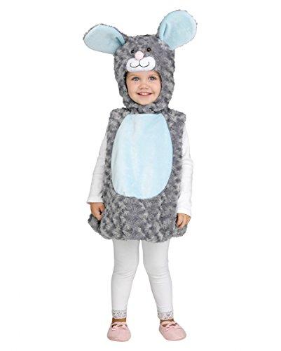 Horror-Shop Kuscheliges Maus Kostüm für Kleinkinder Small 18-12 ()