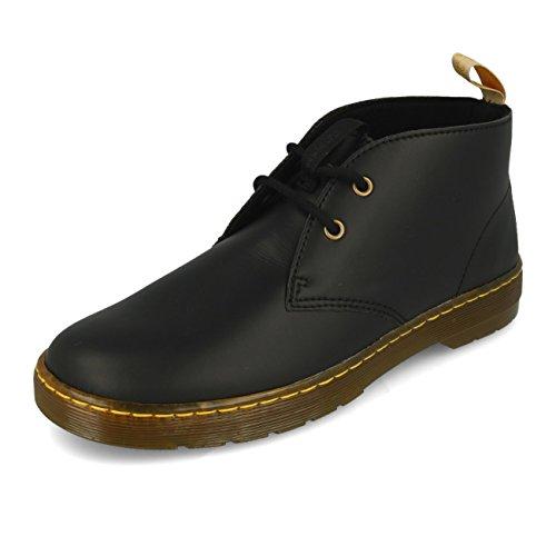 Dr. Martens Mens Vegan Cabrillo 2-Eyelet Black Synthetic Boots 45 EU