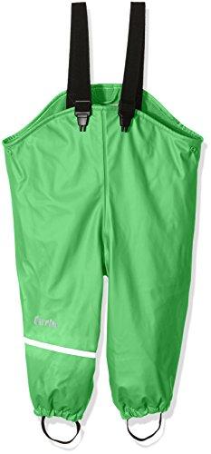 CareTec Kinder wasserdichte Regenlatzhose mit Fleecefutter (verschiedene Farben), Grün (Green 974), 80