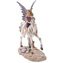 PUCKATOR Lisa Parker Tales of Avalon Amethyst Rider - Figura decorativa de hada con unicornio