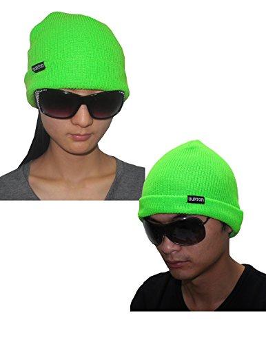 Burton unisexe Ski & Skate Roll Up / Slouch Fit Knit Beanie / chapeau d'hiver Vert