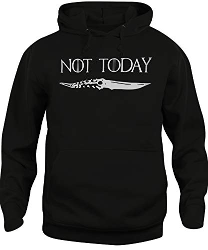 Felpa Cappuccio Unisex Not Today Arya Stark Quote Game of Thrones-Serie TV...