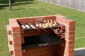 BKB 200Black Knight Brique barbecue kit avec protection de Braise. BSI Approuvé