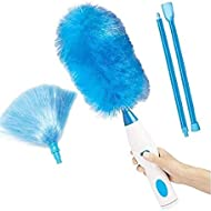Electric Duster, 360 Degree Motorised Duster Dust Wand Household Cleaner Duster Cleaning Brush