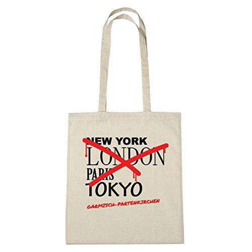 JOllify Garmisch-parten chiese di cotone felpato B1398 schwarz: New York, London, Paris, Tokyo natur: Graffiti Streetart New York