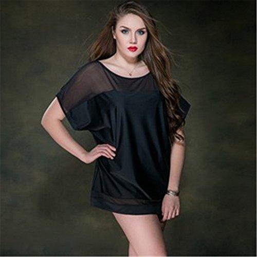 Amadoierly Sun Protection Shirt Kann in Wasser Bikini Nylon Mesh Nähen eine Größe (100-200 lbs), Schwarz