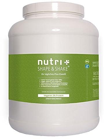 Nutri-Plus Shape & Shake Vegan Kirsche 2kg - Veganes Proteinpulver