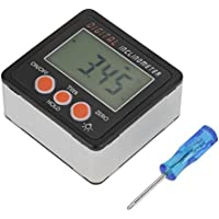 Inclinómetro digital, buscador de ángulos digital, LCD, medidor de ángulo digital, 4 x 90 °C, color negro