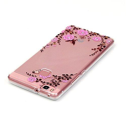 Per iPhone 7 Plus Custodia,Mobilefashion Custodia in Ultra Sottile TPU Protettiva Case Cover per Apple iPhone 7 Plus 5.5 inch (lupo M) + Pellicola Protettiva Dono Gratuito + Colore casuale Protezione  Rosa, fiore della vite M