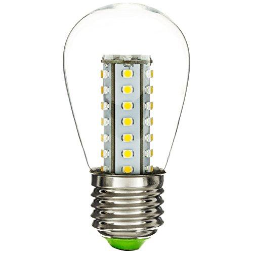 Sunlite S14/LED/2W/CL/WW LED 3000K S142W 11W Ersatz-120V Medium Boden S14Schild mit Leuchtmittel, warm weiß (120v Flut)