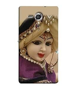 Fuson Designer Back Case Cover for Sony Xperia SP :: Sony Xperia SP HSPA C5302 :: Sony Xperia SP LTE C5303 :: Sony Xperia SP LTE C5306 (Bansuri Gopi Mathura Vrindavan God)