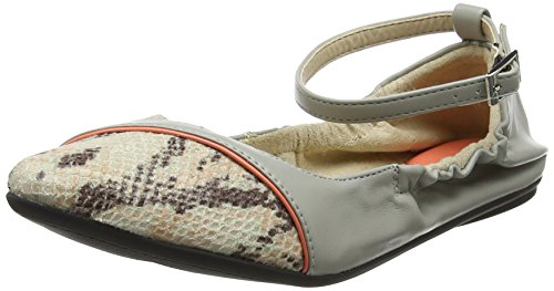 Butterfly Twists Riley, Ballerine Punta Chiusa Donna Grey (Dove Grey/Dusty Pink)