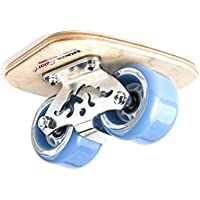 TWOLIONS-Grom Pro Skates Drift Skates,(Freeline saktes) ABS pedal Pedal de acero Con ruedas de la PU de 72 milímetros con los cojinetes ABEC-7 (Izquierda y derecha) (Azul)