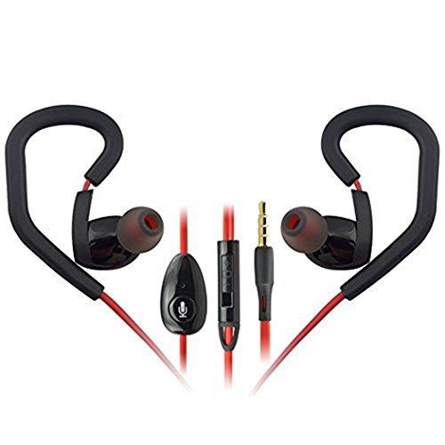 MOKE BYZ-K6 Universal Mobile Computer-Headset Ear-Kopfhörer Bass Universal-Headset Sportkopfhörer 3,5 mm-Klinkenbuchse mit allen Smartphones kompatibel sind und mp3-Player und Computer (rot)