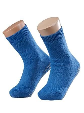 FALKE Unisex - Kinder Socken 10500 Catspads Homesock, Gr. 28(27-30), Blau(BONNIEBLUE 6324)
