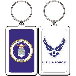 AIR FORCE EMBLEM, Officially Licensed Original Artwork, Lucite KEYCHAIN