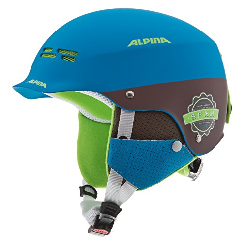 ALPINA Kinder Skihelm Spam Cap, Blue-Brown Matt, 50-54 cm, 9064183