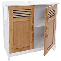 Mendler Waschbeckenunterschrank HWC-A85, Badschrank 60x60x30cm ~ Bambus