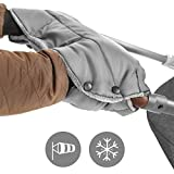 Zamboo Handmuff Handwärmer für Kinderwagen, Sportwagen oder Buggy - Winter Kinderwagenmuff aus Thermo Fleece, wasser- und windabweisend, atmungsaktiv - Grau
