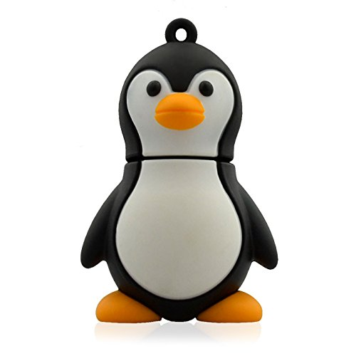 818-Shop No11100050038 Hi-Speed (USB 3.0 8GB) Speichersticks Lustiger Pinguin 3D schwarz