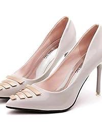 BGYHU GGX/Damen Schuhe Seide Stiletto Heel Heels Heels Hochzeit/Party & Abend/Kleid Weiß