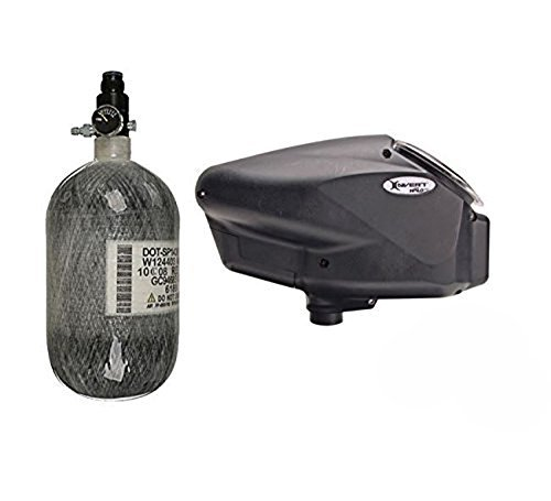 Empire Halo Too Hopper with 68/4500 HPA Tank - Black by Empire Paintball (Hopper Empire)