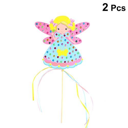 ab DIY Making Kit mit farbigen Diamanten Angel Princess Sticks handgemachtes Material Festival Geschenke 2 Sets ()