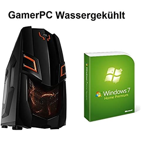 HeidePC | GamerPC Waku | Línea Naranja I | Intel i5-4590 4x3.3 (3.7) | AMD Radeon R9 280x 3GB | ASRock Z97X Killer | Waku Corsair H80i | 4GB DDR3 | 512GB SSD | HDD de 1 TB | 24x DVD ± RW Conduzca | 16x quemador Blu-ray | Win7 64bit HP