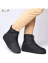 Waterproof Shoe Cover, SevenD Reusable Men's Waterproof Cycling Hiking Rain Shoe Covers Lightweight Anti-Slip Overshoes