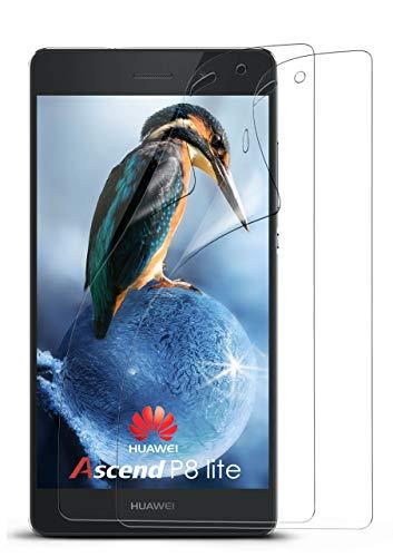 moex 2X Huawei P8 Lite 2015 | Schutzfolie Klar Bildschirm Schutz [Crystal-Clear] Screen Protector Display Handy-Folie Dünn Bildschirmschutz-Folie für Huawei P8 Lite 2015 Bildschirmfolie