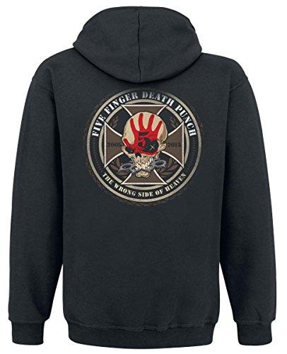 Five Finger Death Punch Decade Of Destruction Sweat à capuche noir Noir