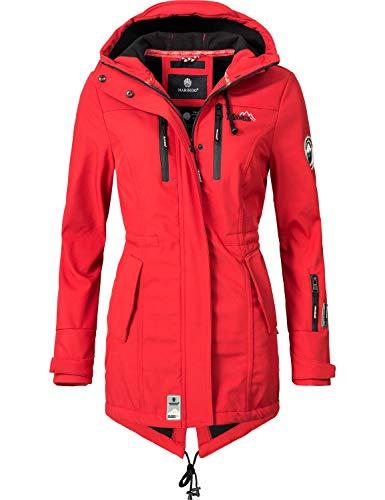 Marikoo Mountain Damen Softshell-Jacke Outdoorjacke Zimtzicke Rot Gr. S