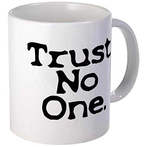 Cafepress–fiducia nessuno upper case tazze, unico, da caffè tazza di caffè, tè tazza, white, small