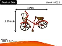 G & F 10022 Fairy Mini Garden Miniature Bicycle Wallpaper - Red by G & F
