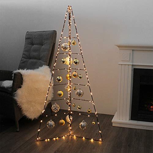 Multistore 2002 Weihnachtsdekoration Aufsteller Weihnachtsbaum Dekobaum, 6 Ebenen, Metall, Höhe 130cm, Tannenbaum Christbaum Tanne
