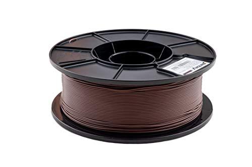 JANBEX PLA Filament 1,75 mm 1kg Rolle für 3D Drucker oder Stift in Vakuumverpackung (Braun)