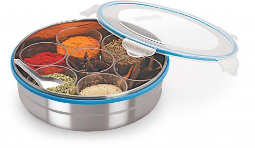 Steel Lock Steel Masala Box /Dabba/lock Spice Container  available at amazon for Rs.605